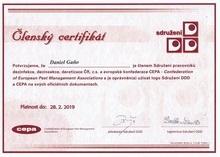 Certifikát DDD a CEPA